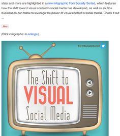 Læs (virkelig indholdsrig) artikel fra hubspot blog - fyldt med links og 'alle' input til visuelt indhold på SoMe. Med denne artkel som udgangspunkt, åbner der sig en vifte af gode indlæg og tons vis af inspiration til at arbejde med visualer på sociale medier.