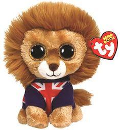 Hero the lion wearing Union Jack - TY Beanie Boo