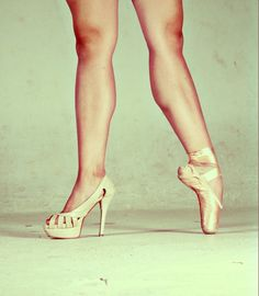 Repin if you think pointe shoes are the real high heels, like if you think the one on the left is a real high heel