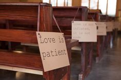 Isle markers....actually I might like this idea with scripture...