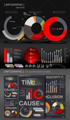 Infographic Elements + Template - GraphicRiver Item for Sale