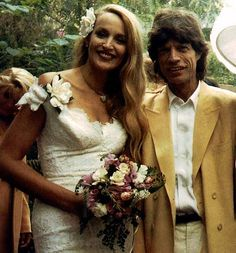 Jerry Hall married Mick Jagger (from the Rock Group The Rolling Stones) in Fiji 1990.