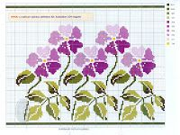 Charts Cross Stitch and Crafts: Flowers