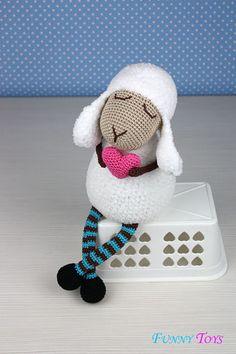 "Toy crochet Pattern ""Lamb Heart"" Crochet toys Kids Toy Plush Doll Small Toy Amigurumi Stuffed Toys"