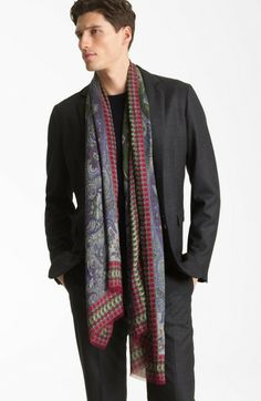 men's paisley scarves | Etro Paisley Print Scarf in Blue for Men (navy) - Lyst