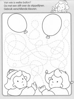 * Van wie is de ballon? Preschool Writing, Preschool Worksheets, English Activities, Book Activities, Theme Carnaval, Circus Crafts, Maze Worksheet, Pre Writing, Elementary Music