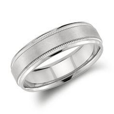brushed mens wedding ring - Google Search