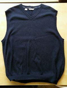 Cutter & Buck Mens Blue Golf Vest XL/TG in Sporting Goods, Golf, Golf Clothing, Shoes & Accs | eBay