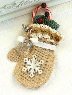 50 Burlap Christmas Decorations Noel Christmas, Primitive Christmas, Country Christmas, Winter Christmas, Handmade Christmas, Christmas Ornaments, Primitive Crafts, Christmas Christmas, Christmas Wreaths