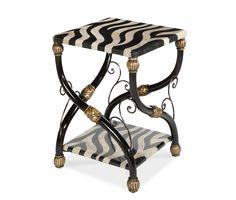 Zebra Accent Table | Discoveries - | Michael Amini Furniture Designs |