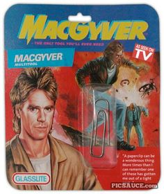 MacGyver Paperclip. Multi-tool for stopping bad guys. I wonder how much they charges for this?  lol