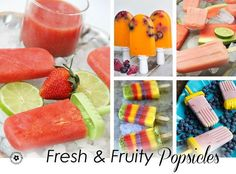 Fresh and Fruity Popsicles {Perfect for Summer!} OneCreativeMommy.com