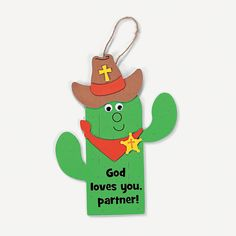 God Loves You, Partner! Sign Craft Kit - OrientalTrading.com craft possible