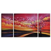 Found it at Wayfair - Painted Sky 3 Piece Painting Print on Canvas Set