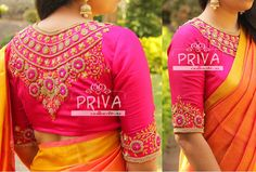 Embroidered back and sleeves