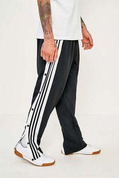 release date df4d8 e7b37 adidas Black Adibreak Popper Track Pants