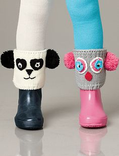 Cozy Boot Sweaters from Hanna Anderson. Too cute! Love the panda one!
