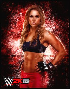 WWE 2K16: Ronda Rousey by xWreckIntent.deviantart.com on @DeviantArt