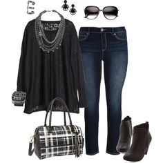 """""""Lace Tunic- Plus Size Outfit"""""""