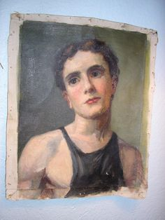 at Laurin Copen Antiques Oil Portrait, Portraits, Paintings, Antiques, Face, Antiquities, Antique, Paint, Painting Art