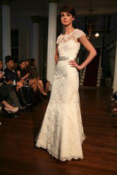 Modern Trousseau #bride #capsleeve
