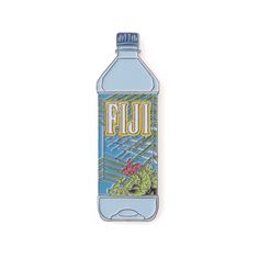 Image of Fiji Water Enamel Pin.