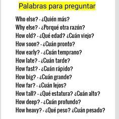 Useful Spanish Phrases, English Phrases, Learn English Words, English Grammar, Teaching English, Spanish Language Learning, English Vocabulary Words, Learn A New Language, Spanish Words For Beginners