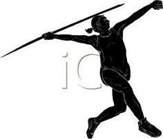 woman throwing javelin | Javelin Throw Silhouette