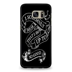 Harry Potter quote - I Solemnly Swear That I Am Up To No Good black Samsung Galaxy S6 Edge Case | yukitacase.com