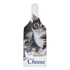 tabby kittens cheese board