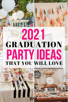 these 2021 high school graduation party ideas are everything i've been looking for!! my party is going to be amazing i cant wait Vintage Graduation Party, Outdoor Graduation Parties, Graduation Party Centerpieces, High School Graduation Gifts, Graduation Party Supplies, Graduation Ideas, Graduation Decorations, Grad Parties, Diy 2019