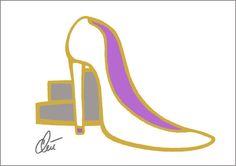 JACQUELINE DITT - Cinderella's High Heel A3 sign.ltd.Original Grafik mittelgross