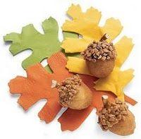 Donut hole acorns - Autumn/Thanksgiving