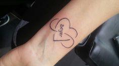 Mijn gezette tattoo met de liefde van mijn leven zijn naam erin.