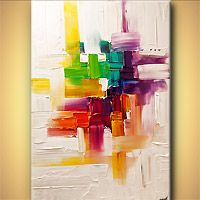 Abstract art by Osnat Tzadok | Really pretty colors, although I can't say I understand the pricing.