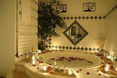 .... Jacuzzi, Corner Bathtub, Bathroom, Chic, Plunge Pool, Bath Room, Elegant, Bathrooms, Bath