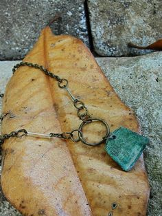 thimble metal detector find salvaged necklace by silentsalvation, $14.00