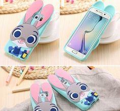 Cartoon Samsung Galaxy S5 S6 S7 Edge Case Cute Animals Rabbit for Samsung Galaxy S6 S7 Edge Bunny Cases