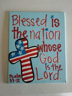 "Psalm 33:12 Canvas - 8""X10"" - Ready to ship"