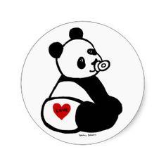 Pegatinas Oso De Panda Del Dibujo Animado | Diseños de pegatinas ...