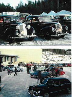 MB 170 S kan inte betraktas som ovanlig. Men den dyrare och lyxigare 220 (sex-cyl med överliggande kam) finns det inte många kvar av, vare sig i Finland eller Sverige.          Ryska bilar fanns det flera av på rallyt, men ägarna var från Finland.  Gissar på en Zim här. Finland, Antique Cars, Antiques, Vehicles, Vintage Cars, Antiquities, Antique, Car, Old Stuff