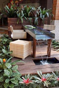 Cool water feature for patio