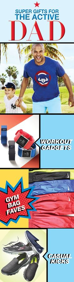 Is the dad in your life always on-the-go, spending all his time outdoors or constantly counting his steps? Then we suggest checking out the Macy's gift guide for presents like FitBits, workout shorts, and stylish kicks to make his Father's Day the best one yet.