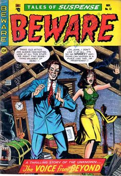 Comic Book Cover For Beware #12