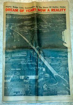 Angus L. Macdonald Bridge Herald Mail Star Bridge Edition Apr 1, 1955 Halifax