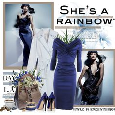 She's a rainbow - Elisa Sednaoui, created by mizrose.polyvore.com
