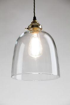 Bell Blown Glass Pendant
