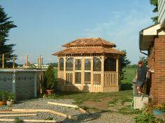Custom cedar gazebo by Flamborough Patio Gazebo, Outdoor Structures, Patio, Kiosk, Yard, Terrace, Pavilion