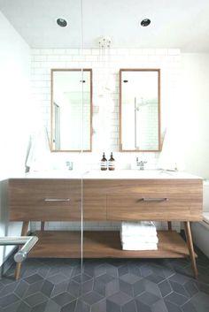 13 Ways Mid Century Modern Bathroom Flooring Can Improve Your Business Vintage Bathroom Vanities, Diy Bathroom Vanity, Bathroom Vanity Lighting, Bathroom Ideas, Vanity Redo, Bathroom Art, Bathroom Cabinets, Bathroom Furniture, Small Bathroom