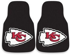 $21.99 - NFL Kansas City Chiefs Carpeted Car Mats (Set of 2) - Support your favorite NFL football team with this two-piece FANMATS printed carpet mat featuring the Kansas City Chiefs. These floor mats protect your vehicle's flooring while showing off your team spirit.